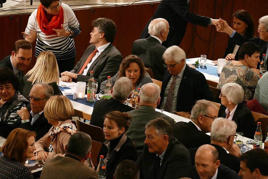 Voll besetzt war die Stühlinger Stadthalle bei der Verabschiedung von Bürgermeisterin Isolde Schäfer. (Foto: Juliane Kühnemund)