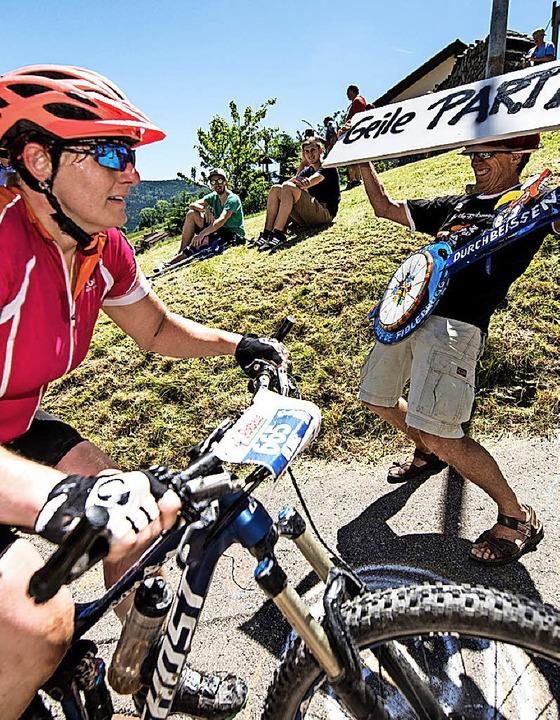 Partysportler unter sich – auch beim Ultra-Bike 2018   | Foto: Seeger