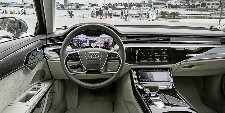 Auch der neue A8 ist unverkennbar ein ...echnisch noch weiter aufgerüstet hat.   | Foto: werksfotos