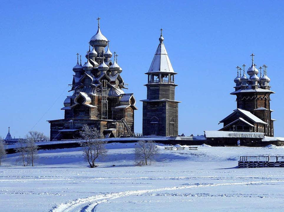Beeindruckend: 22  Holzkuppeln zieren die Kirche auf Kischi.   | Foto: dpa