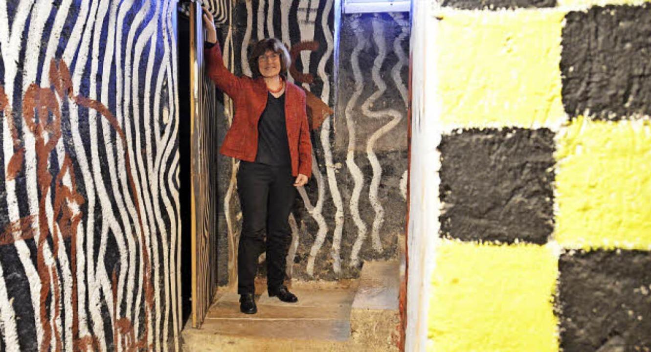 Warum verzieren Zebramuster die Wände ...ller?  Christine Heimburger verrät es.  | Foto: Hesser