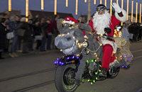 Der Nikolaus ist Harley-Fan