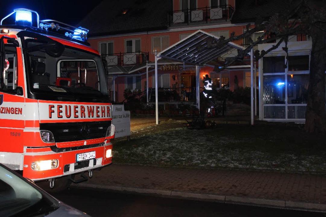 Brand im Hotel Hofmann Zur Mühle in Bad Krozingen  | Foto: Feuerwehr