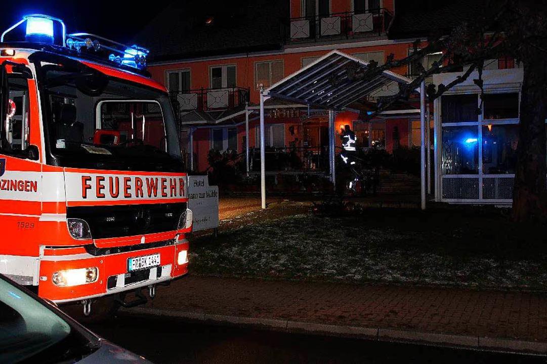 Hotelbrand in der Kernstadt  | Foto: Feuerwehr