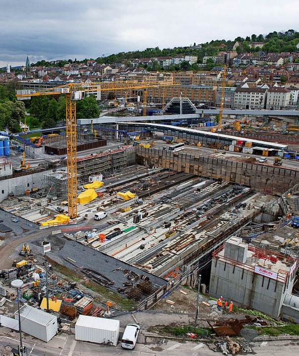 Die Baustelle für Stuttgart 21   | Foto: dpa