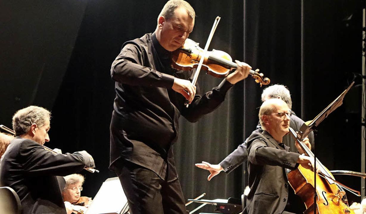 Geiger Christian Ostertag und  Cellist Francis Gouton harmonierten exzellent.   | Foto: Roswitha Frey