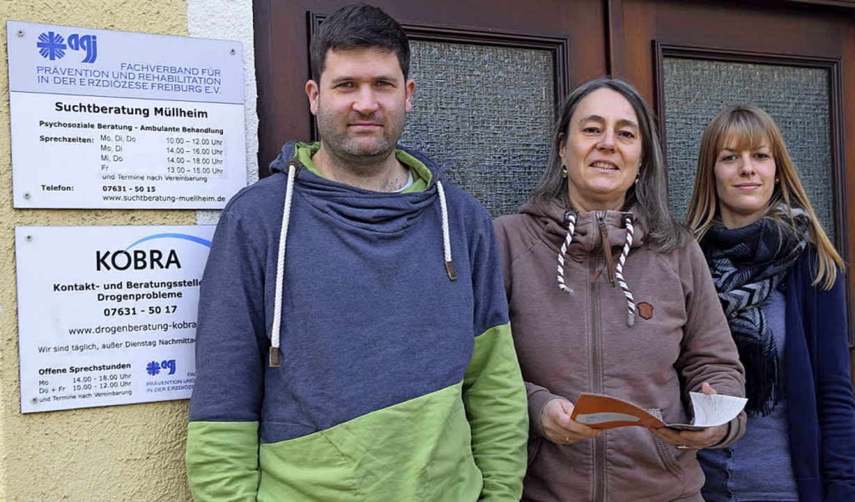 Das Kobra-Team: Tobias Glas, Katharina Braun und Sarah Paulus  | Foto: Beatrice Ehrlich
