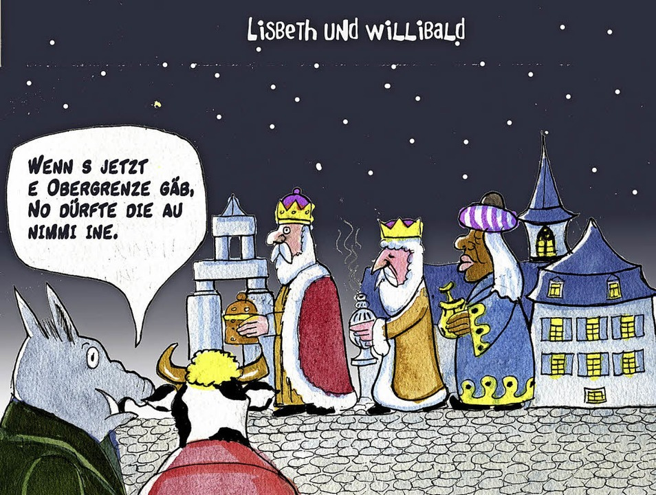 Passend zur Weihnachtszeit: eine Karikatur von Bert Kohl  | Foto: Privat