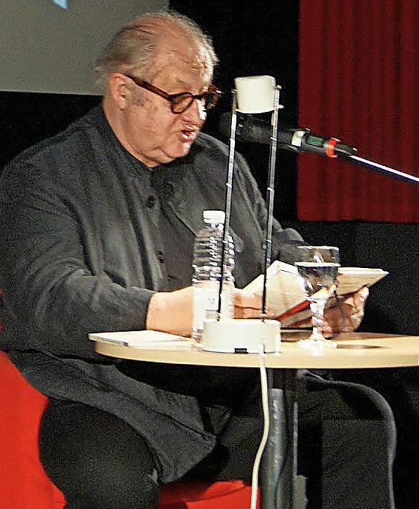Barocke Erscheinung: Vincent Klink im Forum-Kino  | Foto: Carola Bruhier