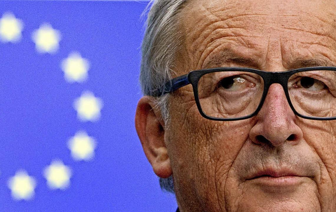 Aufschlag Juncker: Der EU-Kommissionsp...hläge für die Reform der Eurozone vor.  | Foto: dpa