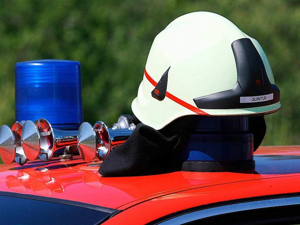 Die Feuerwehr Schopfheim war am Mittwo...m Kreispflegeheim schnell zur Stelle.   | Foto: P. Seeger (dpa)