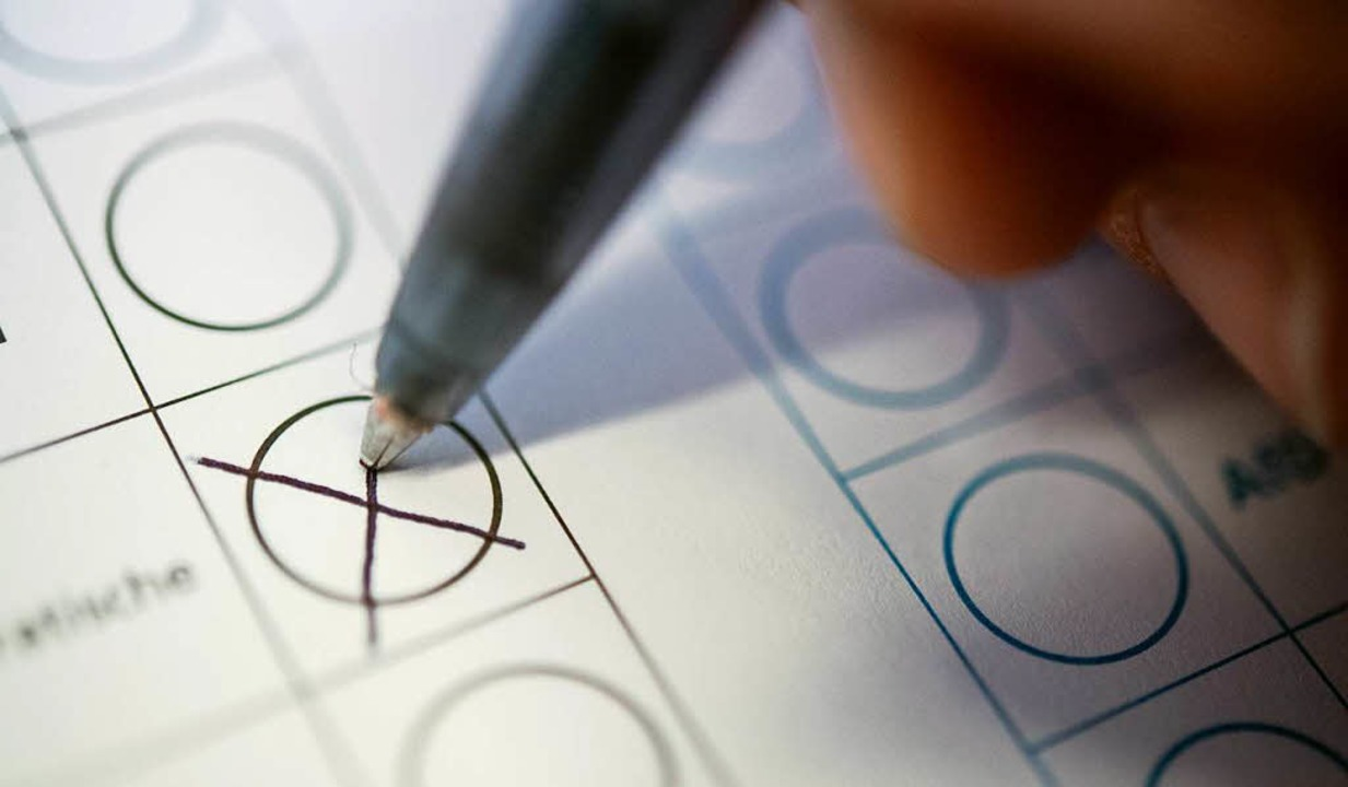 Unecht wählen – dank Sonderwahlrecht geht das.  | Foto: dpa
