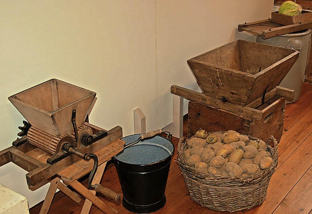 Mit diesen Geräten waren oft Kinder im Einsatz.  | Foto: Jutta Binner-Schwarz