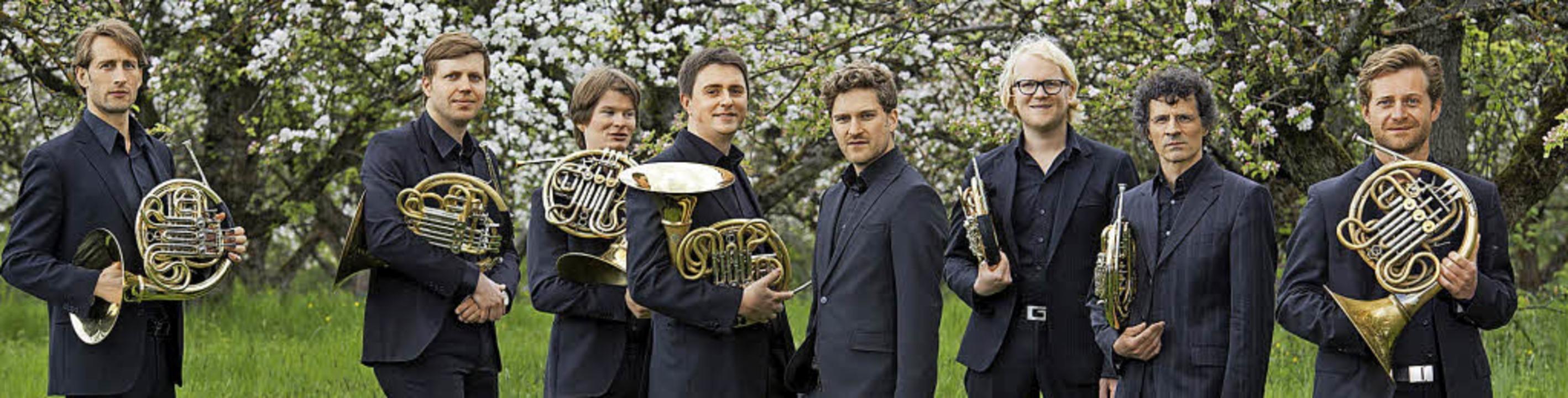 Das German Hornsound-Quartett bei eine...rechts) und Sebastian Schorr (rechts).  | Foto: Promo