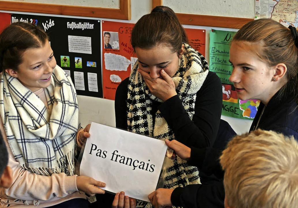 Französisch oder nicht: Diese Frage st... manchmal vor eine schwierige Aufgabe.  | Foto: Martin Wunderle