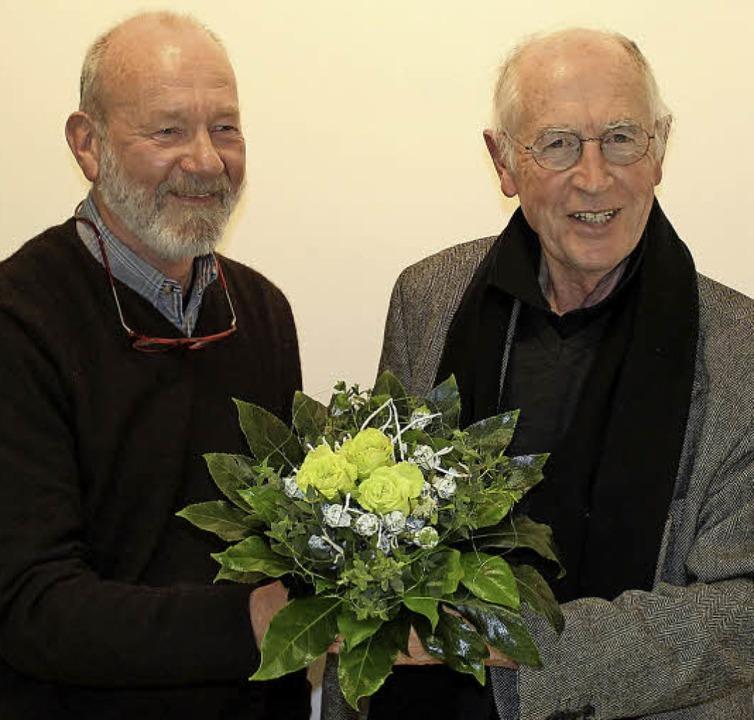 Der neue Vorsitzende Ulrich Weishaar (...er Kroll, der nicht mehr kandidierte.   | Foto: privat