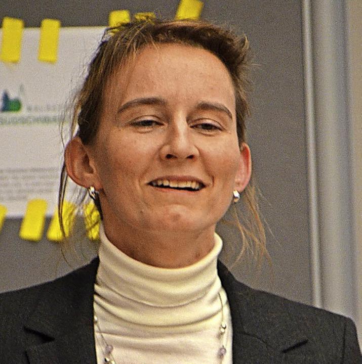 Bürgermeisterin Marion Frei aus Dettig...für private Waldbesitzer am Hochrhein.    Foto:  glaser