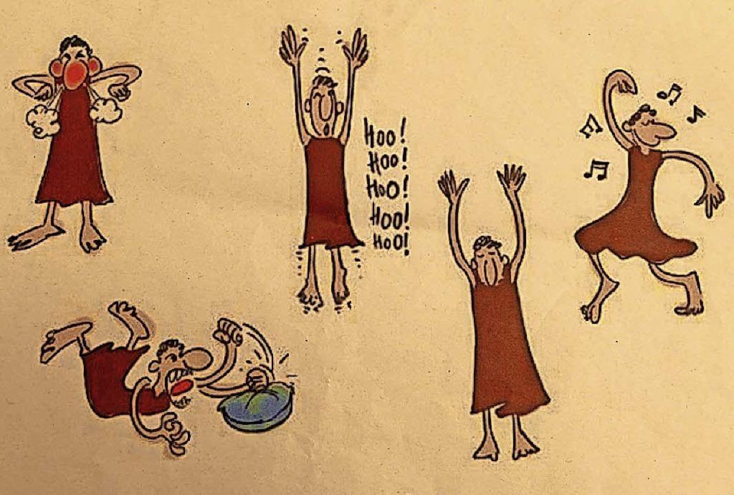 Der Tagesablauf im Seminar als Cartoon.  | Foto: Ralf Morys