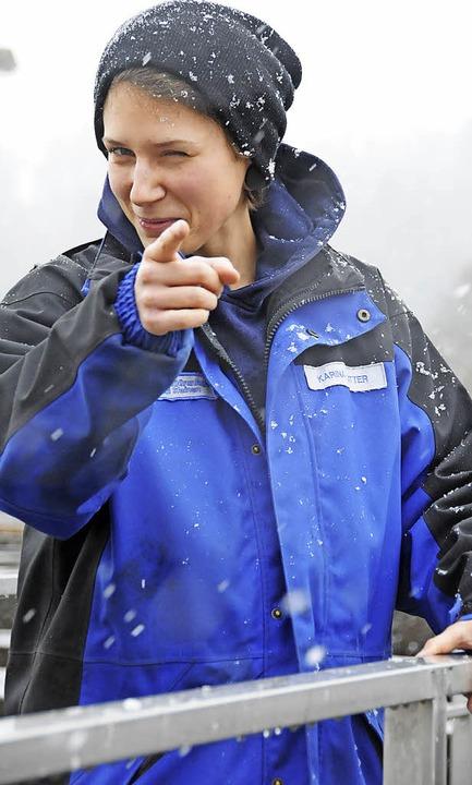 Wetterfest:   Karina Sutter ist Auszub...er, ihren Traumjob gefunden zu haben.   | Foto: Robert Bergmann