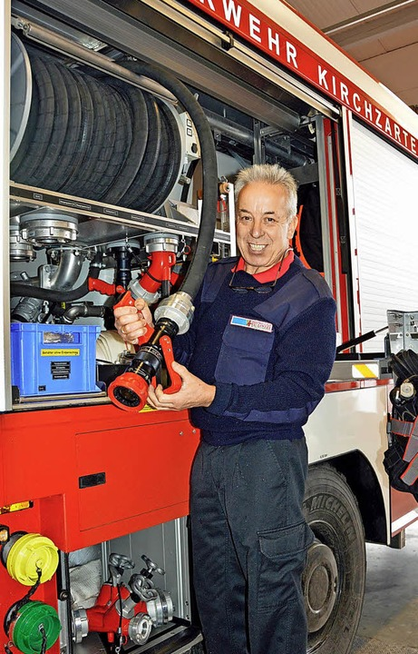 Mit 4000 Litern Wasser und 500 Litern ...m Brandherd Löscharbeiten ermöglicht.   | Foto: Gerhard Lück