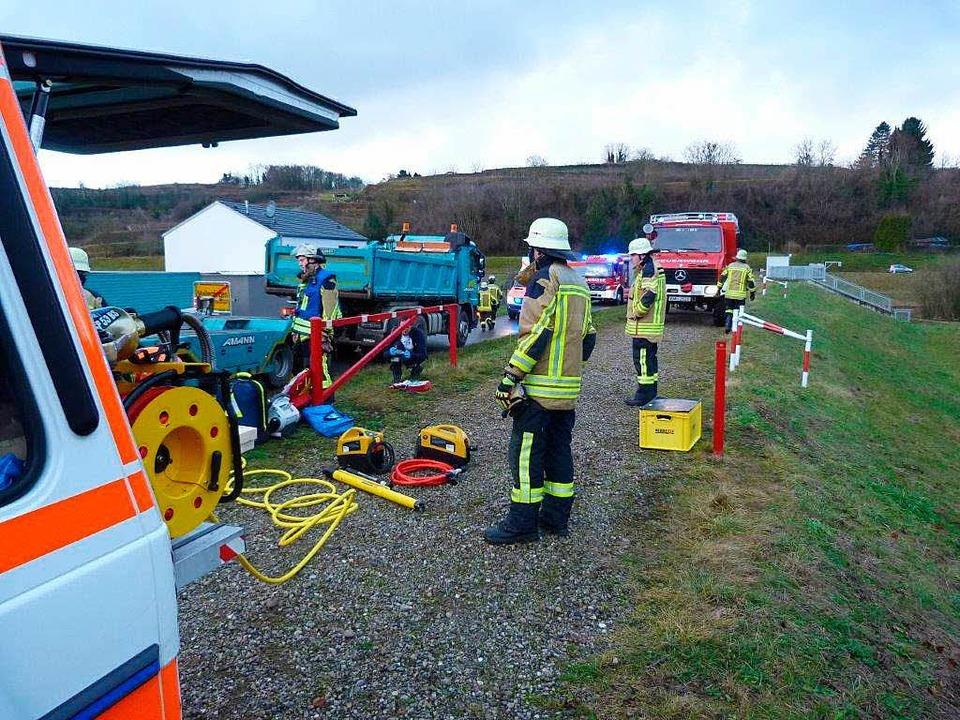 Die Feuerwehr Emmendingen war mit dem 25-köpfigen Rüstzug im Einsatz  | Foto: Feuerwehr Emmendingen