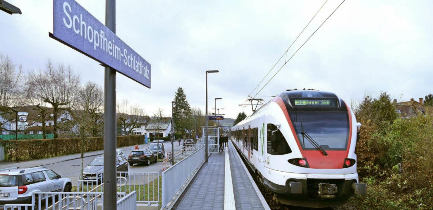 Anschluss für das Schlattholz: Am Frei...et, ab Sonntag wird sie auch bedient.     Foto: André Hönig