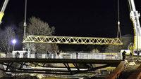 Die Behelfsbrücke sagt tschüss