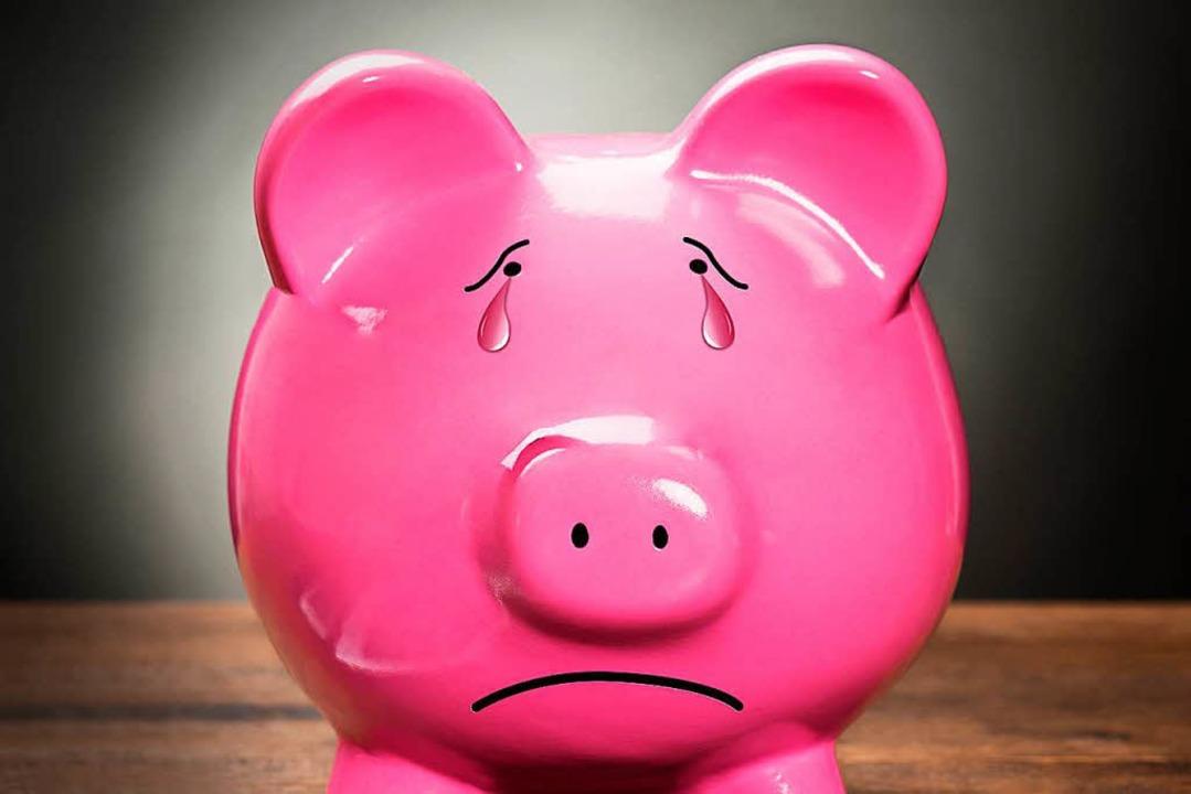 Angesichts der Minizinsen haben Sparschweine nichts zu lachen.  | Foto: Adobe.stock.com