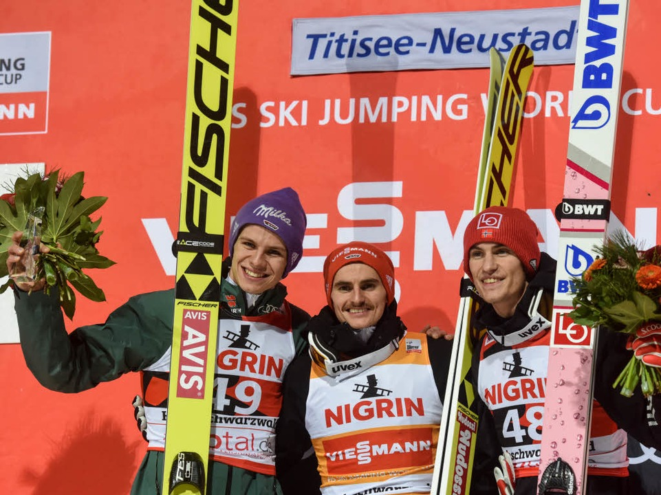 Dritter wurde Daniel Andre Tandeaus Norwegen  | Foto: dpa