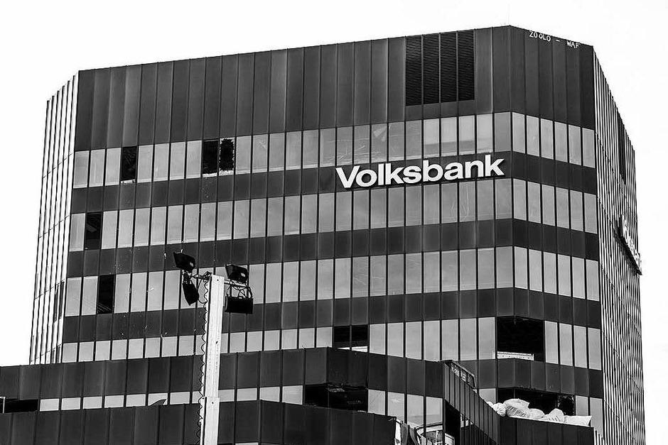 Das Volksbank-Gebäude ist bald Geschichte (Foto: Carlotta Huber)