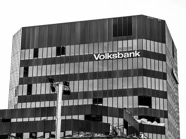 Das Volksbank-Gebäude ist bald Geschichte