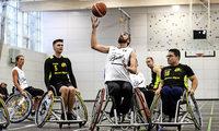 Treffsichere Rollstuhlbasketballer
