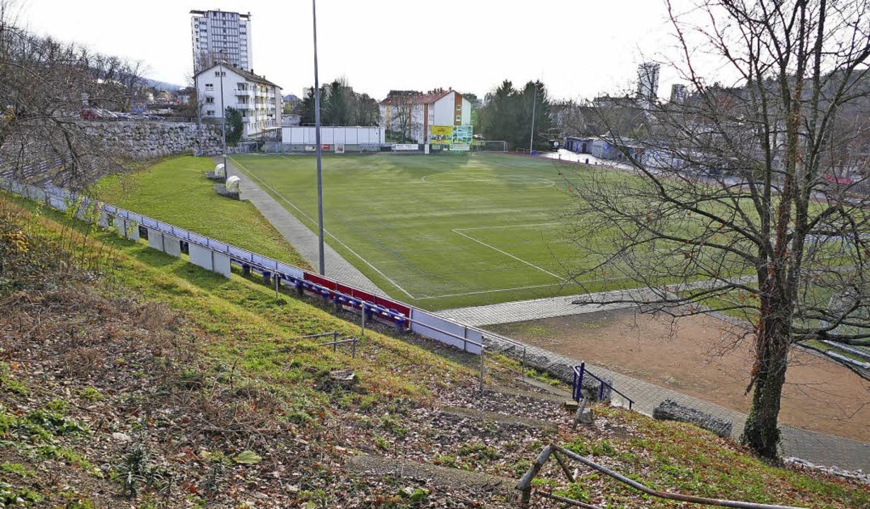 Der TuS Lörrach-Stetten beantragt eine...schuss für den Unterhalt des Stadions.  | Foto: Peter Gerigk