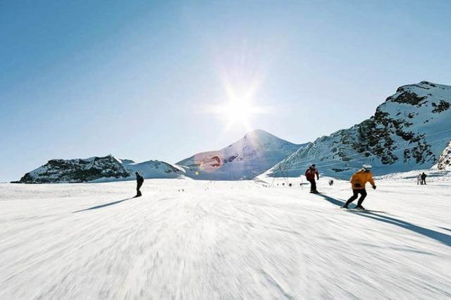 Auf ins Skigebiet Saas-Fee