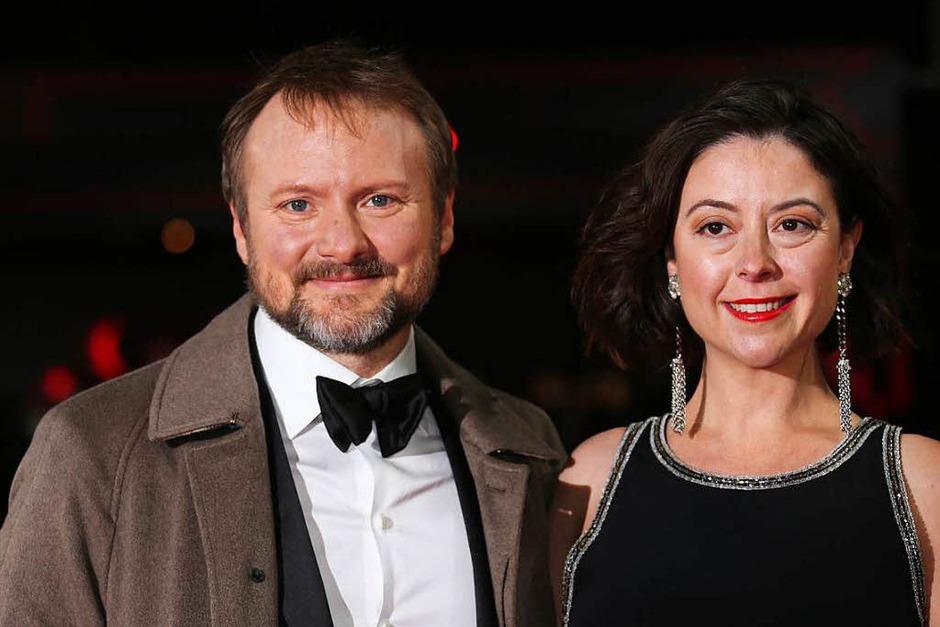 Regisseur Rian Johnson und die  Journalistin und Filmkritikerin Karina Longworth (Foto: dpa)