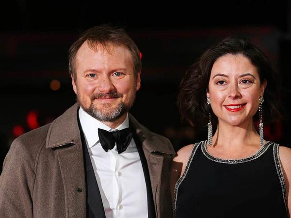 Regisseur Rian Johnson und die  Journalistin und Filmkritikerin Karina Longworth
