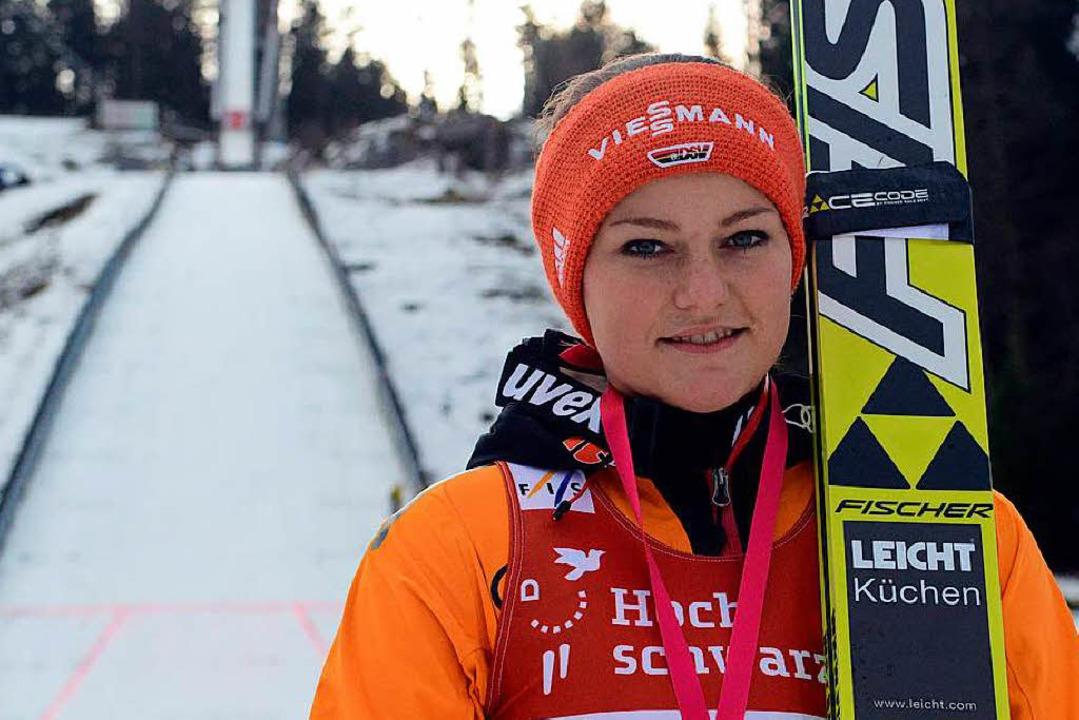 Start einer Weltkarriere: Im Dezember ...ettkampf reif für einen Podestplatz.    | Foto: patrick Seeger