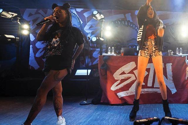 Das Hip-Hop-Duo SXTN im Jazzhaus