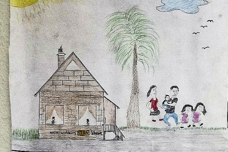 In diesem Haus bin ich geboren. Es steht im Libanon.   Mit meinem Vater, meiner Mutter und zwei älteren Geschwistern bin ich dort aufgewachsen. (Foto: -)