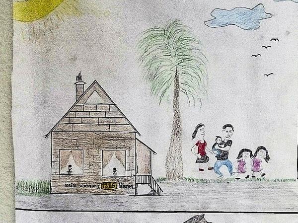 In diesem Haus bin ich geboren. Es steht im Libanon.   Mit meinem Vater, meiner Mutter und zwei älteren Geschwistern bin ich dort aufgewachsen.