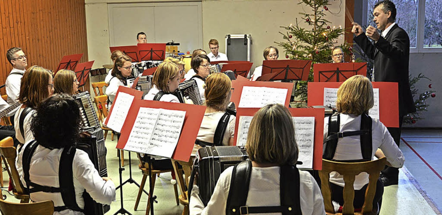 Das Hauptorchesters des Akkordeonclubs Reute   | Foto: Benedikt Sommer