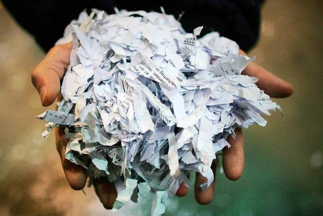 Ab wann dürfen Rechnungen in den Schredder?
