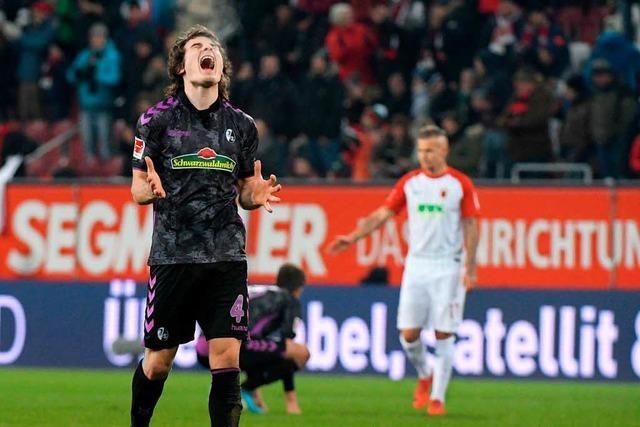 Die SC-Spieler nach dem späten 3:3 in Augsburg in der Einzelkritik