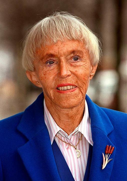 Die 2001 verstorbene Gründerin und Auf...r Beate Uhse AG, Beate Uhse-Rotermund.    Foto: dpa