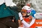 Fotos: Schnee und weite Sprünge gab's beim Weltcup der Skispringerinnen