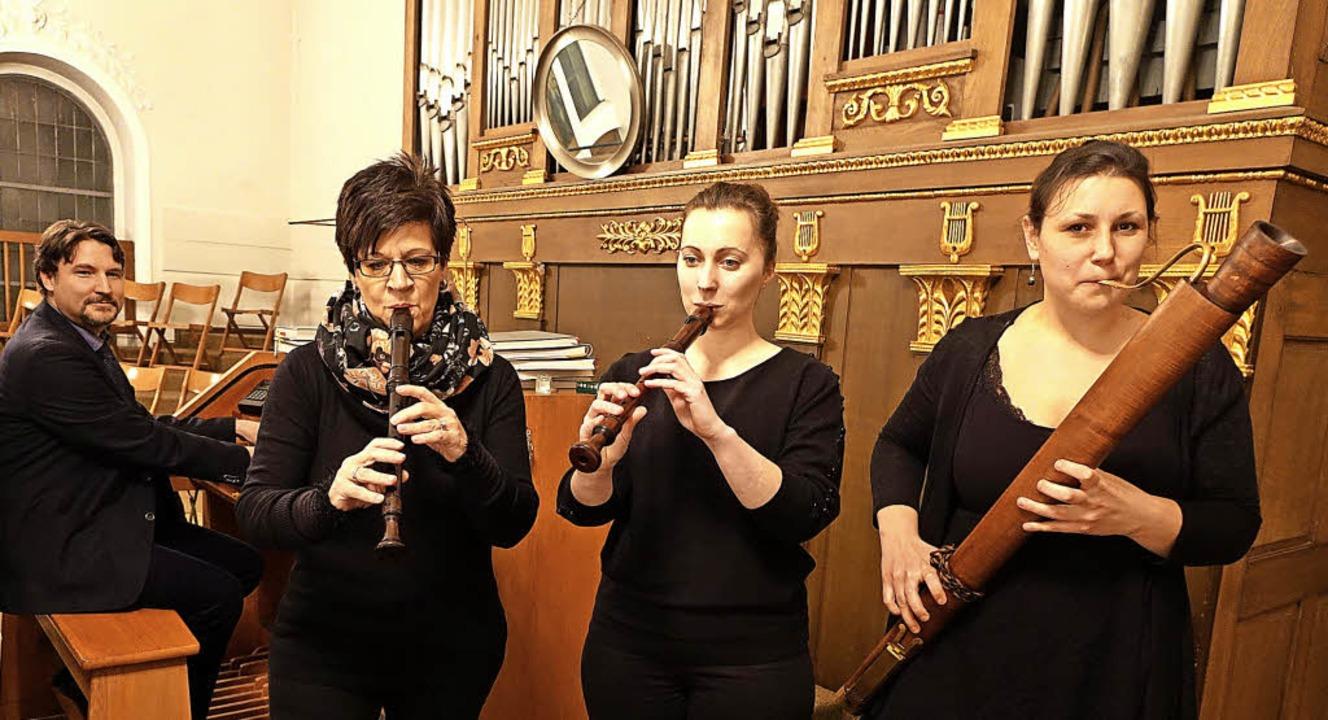 Festliche und besinnliche Barockmusik ...sa Ortnerc in der Kirche St. Fridolin.  | Foto: Roswitha Frey