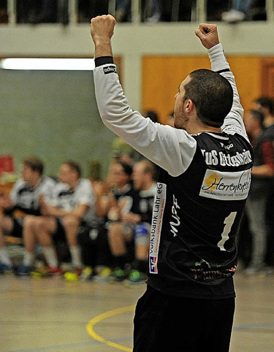 TuS-Torwart Tobias Bertsch hielt den letzten Ball.   | Foto:  Büro Schaller