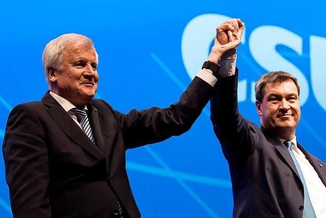 Horst Seehofer und Markus Söder bilden Doppelspitze