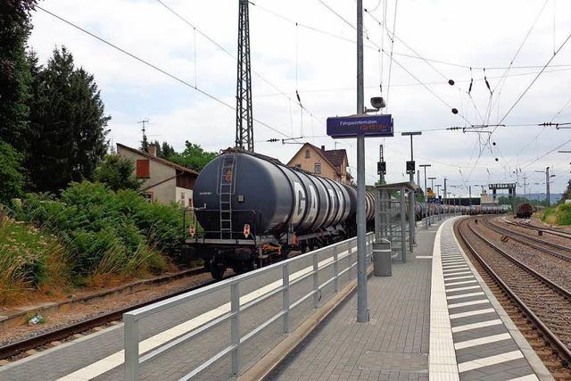 Bahnhof Efringen-Kirchen: Leck am Kesselwagen ist abgedichtet