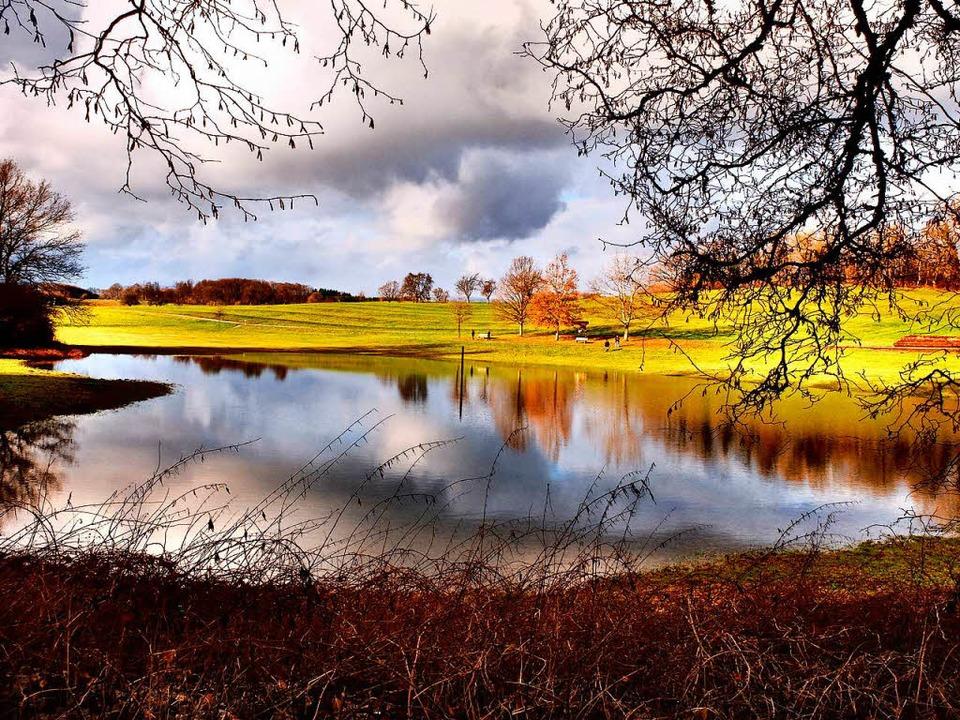 Der Eichener See ist wieder da – mit richtig viel Wasser.  | Foto: Thomas Winckelmann